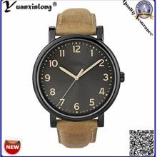 Простой дизайн YXL-379 военные часы кожаный ремешок кварцевые Vogue наручные часы Мужская мода часы случайные спорта наручные часы Часы
