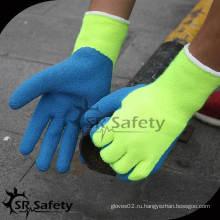 SRSAFETY 7G Акриловая подгузник Вязаная латексная ладонь с защитной перчаткой