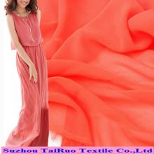 Tela colorida do poliéster do chiffon para o estilo novo do Chiffon longo do vestido