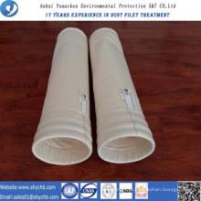 A agulha não tecida perfurou o saco de filtro da poeira da composição do repelente de água e de óleo PPS do filtro para a indústria