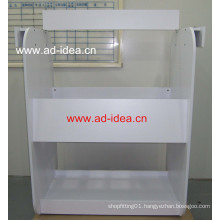 Customized Design Literature Display Wood Floor Stand