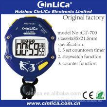 CT-700 radio calorie pedometer clock stopwatch, blue stopwatch