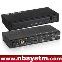 2x1 divisor audio de HDMI (2xHDMI a la entrada, salida 1xHDMI + SPDIF + coaxial)