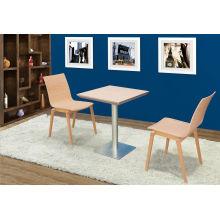 Mesa de madera de encargo de la cafetería 600X600m m (FOH-BCA86)