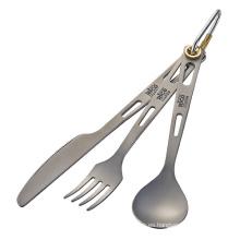 Titanio cubiertos Set cuchara tenedor cuchillo