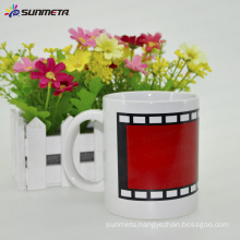 11oz ceramic white mug with film color changing