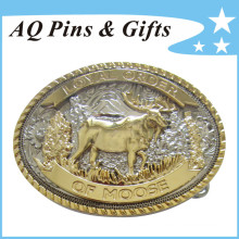 3D Goat Alloy Belt Buckle with Special Edge (Belt buckle-015)