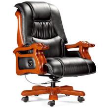 Silla reclinable del CEO del cuero genuino del zurriago del masaje (FOHA-18 #)