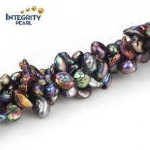 Hilo de perlas de agua dulce Negro Color Natural 7-8mm hilo de perlas