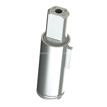 Amortiguador de paletas con amortiguador rotatorio para basurero