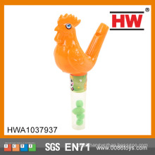 Cheaper Plastic Animal Candy Toys With Whistle Toy