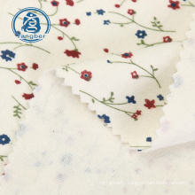 High Quality Knit Floral Printed Poly Spun Jersey 95% Polyester 5% Spandex Fabric