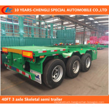 40FT 3 Axle Skeletal Semi Trailer