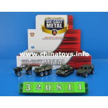 Metal Die Cast modelo militar do brinquedo do carro do exército (320811)