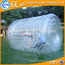Inflável rolo polímero jumbo água bola tanque de água bola flutuador válvulas