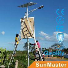 Luz solar al aire libre del jardín de la luz del camino de la luz del camino de los 5m6m7m 8m poste con la caja del anuncio