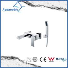 Wall Mount Chromed Bath Shower Faucet with Hand Shower (AF6028-2)