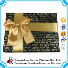 New Design Custom Luxury Chocolate Paper Box with golden hot stamping
