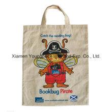 Promotional Custom Logo Printed Shopper Tote Canvas Bag