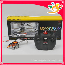 HUAJUN Factory W909-9 Alloy 3.5 channel rc helicopter toys helicopter toys with gyro