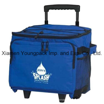 Promotional Custom Printed 48-Can Wheeled Cooler Bag