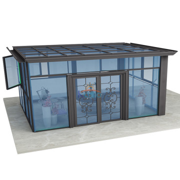 Polykarbonat Sunroom Kit Buet glassfrittstående sunroom
