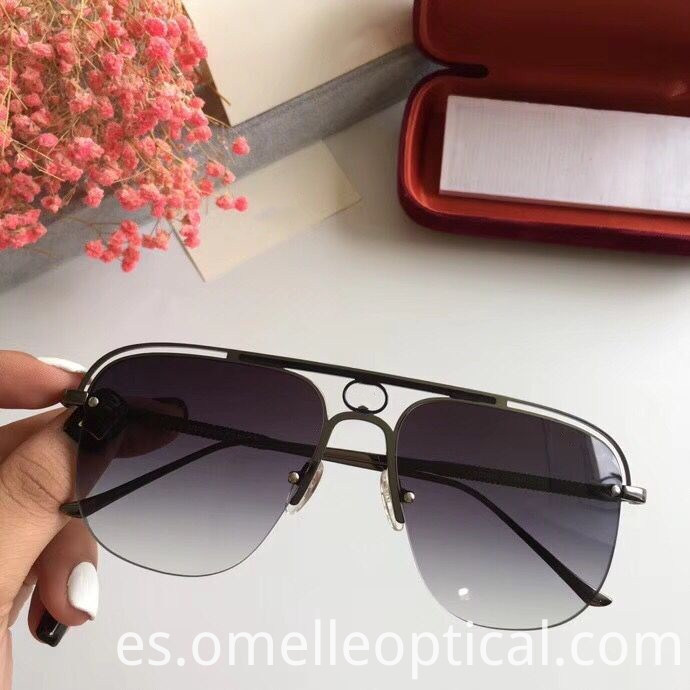 Square Semi Rimless Sunglasses
