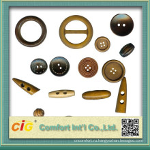 Newly-designed Clothes Accessory with metal button ribbon