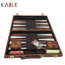 Jogo personalizado do backgammon de 15 polegadas por atacado