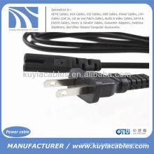 US Plug Câble de cordon d'alimentation 2 ports pour ordinateur portable Ps2 Ps3