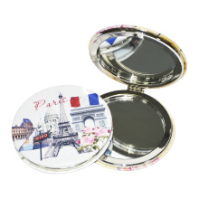 Whole Sale New Style Double-Sided Folding Cosmetic PU Mirror