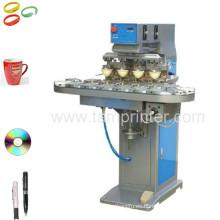 TM-C4-P 4 Color CD/Golf Copa bola impresión del cojín máquina impresora del cojín con el transportador