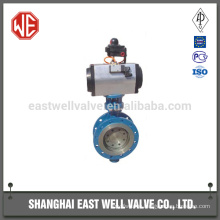 Pneumatic butterfly valve for oil and gas