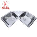 КУПЧ кухни коммерчески используемая Нержавеющая сталь 304 угловой раковиной
