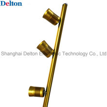 Flexível 3 Light-Head Pole Tipo Golden LED Gabinete Iluminação (DT-ZBD-001)