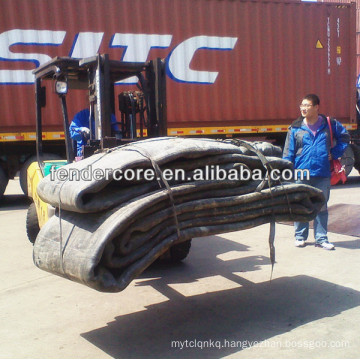 Heavy duty Inflatable Rubber Airbags can be also used for floating bridge and dock construction