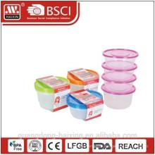 Пластиковая еда контейнер 0,75 Л (4шт)