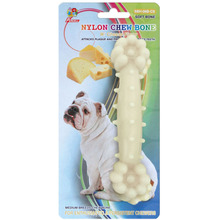 "Percell 6 ""Nylon Dog Chew Bone olor a queso"