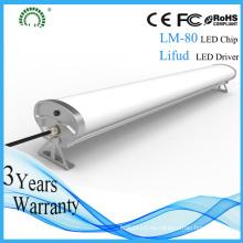 Ahorro de energía Industrial IP65 1.2m LED Triproof iluminación con CE RoHS