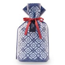 Pochette de cadeau de Noël de couleur bleu marine