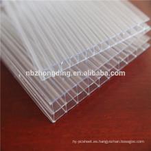 panel de invernadero de policarbonato anti-niebla / panel de invernadero de PC