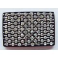 Modish Acrílico Rhinestone Fivela, Rectangle Rhinestone Shoe Clips