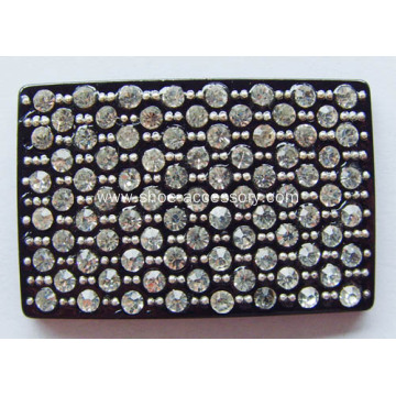 Modish Acrylic Rhinestone Buckle, Rectangle Rhinestone Shoe Clips