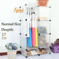 Cbinet blanc de stockage de bricolage en plastique avec beaucoup de couleurs disponibles (FH-AL0523-3)
