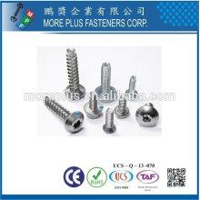 Taiwán Acero inoxidable 18-8 Cromo plateado Acero Cobre Latón Aluminio Plastilo Trilobular Hilo Forjando Tornillo