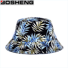 Wholesale Custom Cheap Leaf Pattern Print Plain Bucket Hats