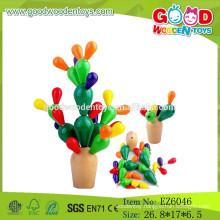 Hot Sale DIY Wooden Balancing Toy,Cactus Balancing Game,Educational Balancing Toy