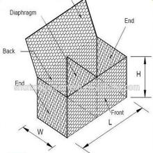 Caja de malla de alambre hexagonal de fábrica real para la venta