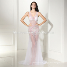 Chiffon Sequin Diamond 7 Color Evening Dress Sexy Off-shoulder Backless Dress