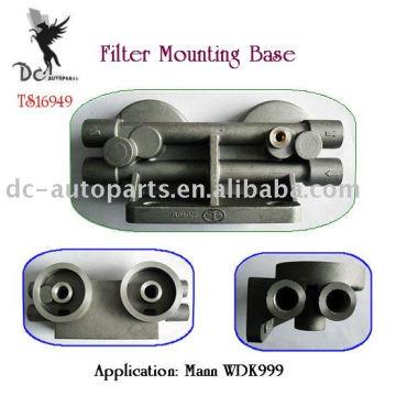 Aluminium-Druckgussteile für Remote-Ölfilter-Montagesockel